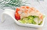 shrimp on a spoon